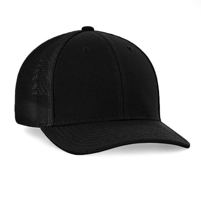 Mesh back trucker cap in black