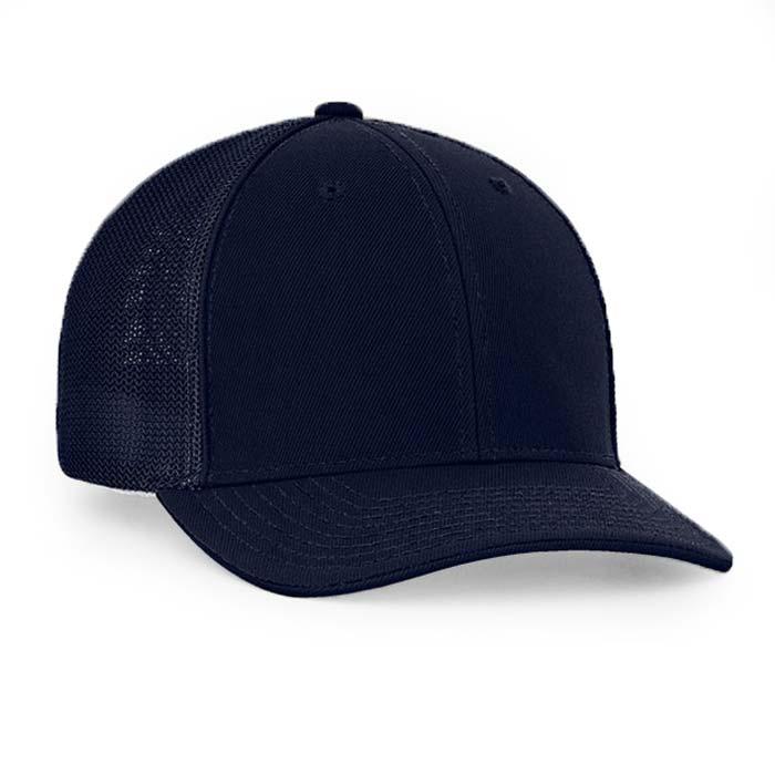 Mesh back trucker cap in navy