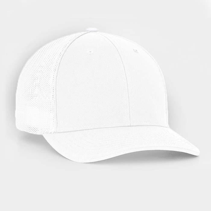 Mesh back trucker cap in white