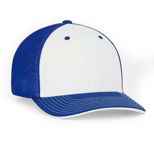 Mesh back Pro Trucker Cap white-royal