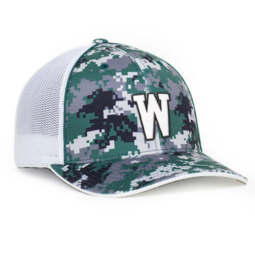408M digital camo trucker hat embroidered