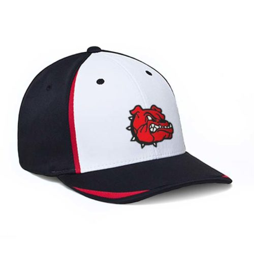 Big Wig Performance Cap in White, Black and Red