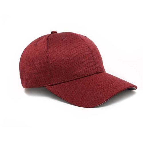 Moisture Management, Adjustable Baseball Cap in Maroon