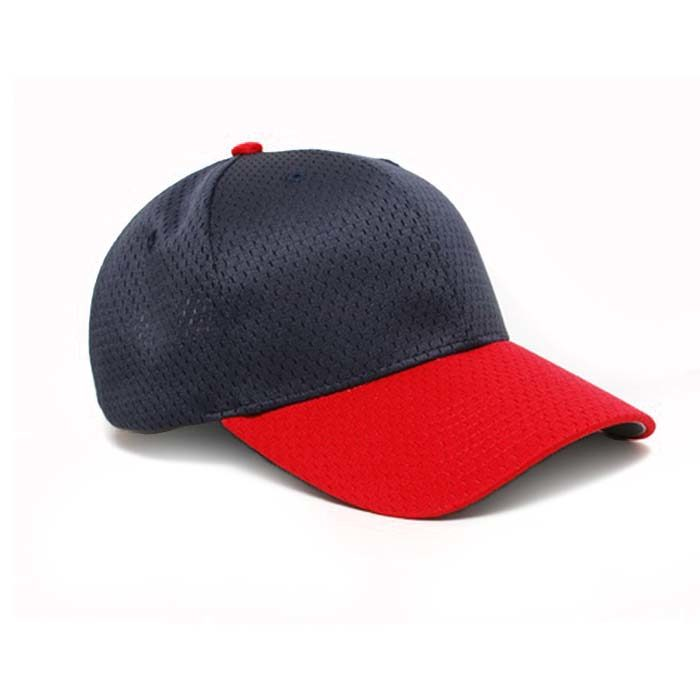 Moisture Management, Adjustable Baseball Cap in Navy and Red
