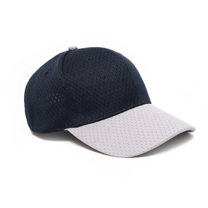 Moisture Management, Adjustable Baseball Cap in Navy and Silver