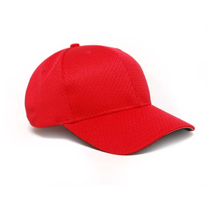 Moisture Management, Adjustable Baseball Cap in Red