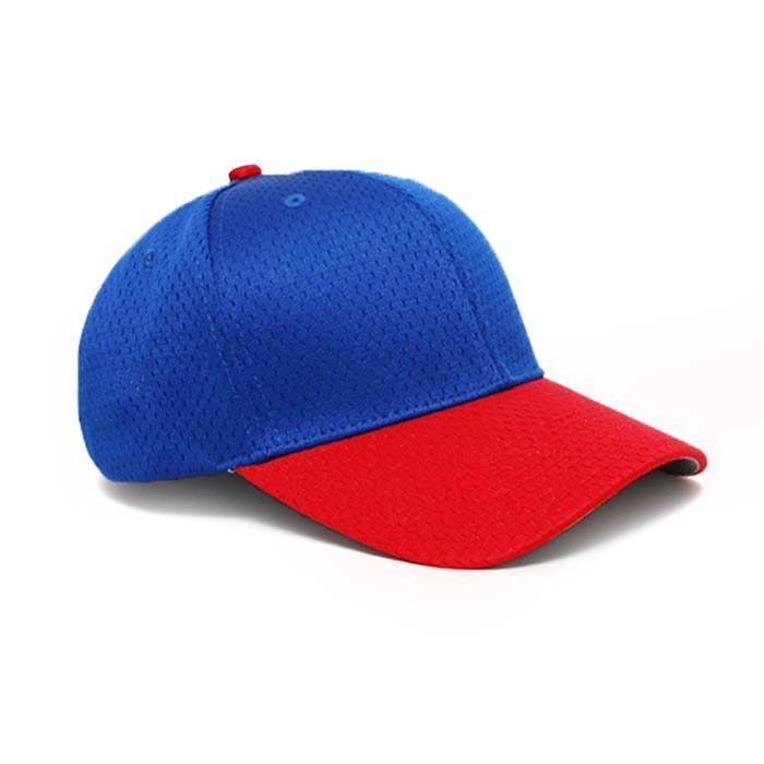 Moisture Management, Adjustable Baseball Cap in Royal and Red