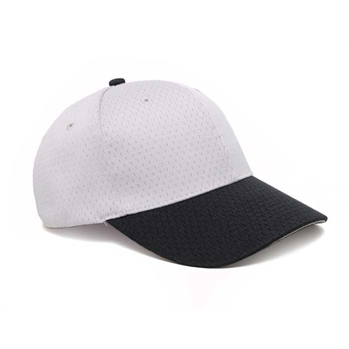 Moisture Management, Adjustable Baseball Cap in Silver and Black