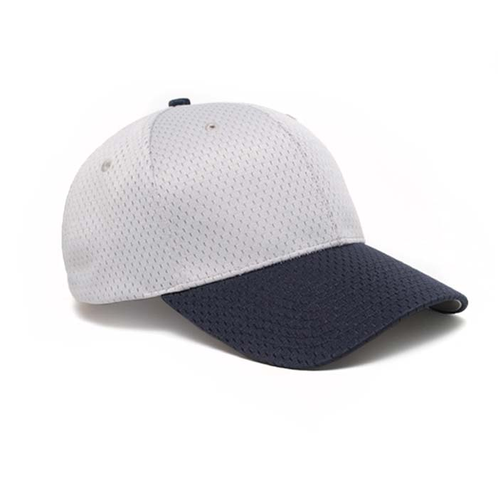 Moisture Management, Adjustable Baseball Cap in Silver and Navy