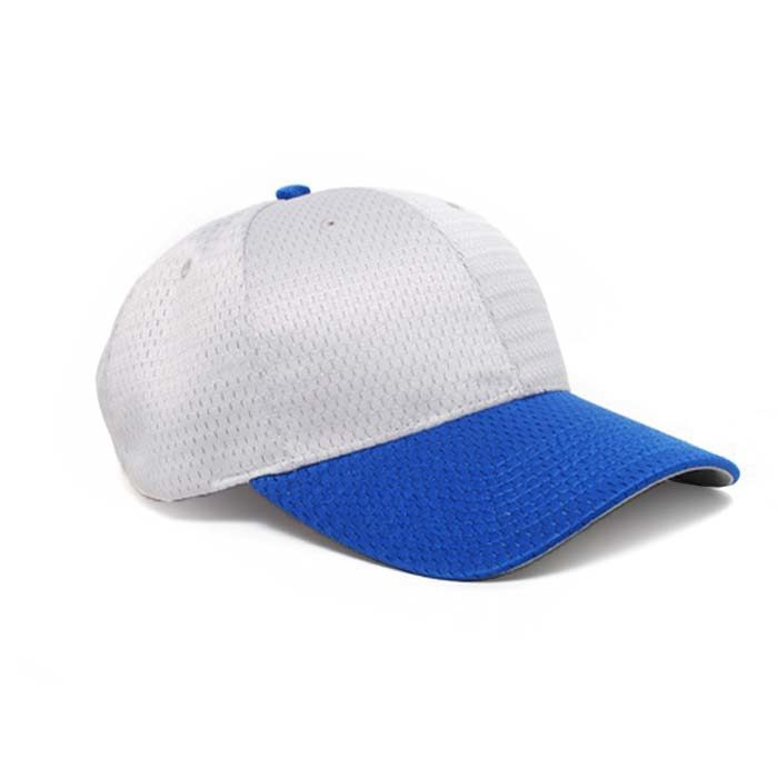 Moisture Management, Adjustable Baseball Cap in Silver and Royal