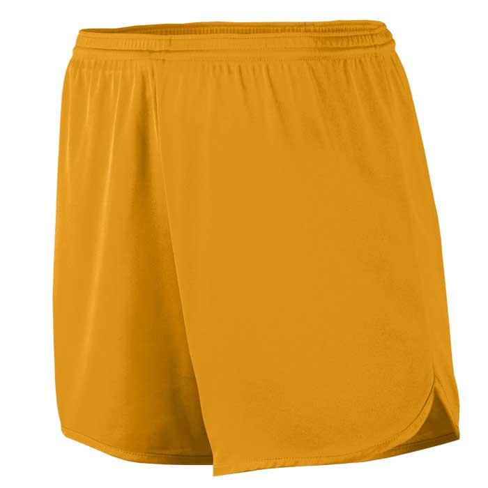 Men's Gold Accelerate Track Uniform Shorts