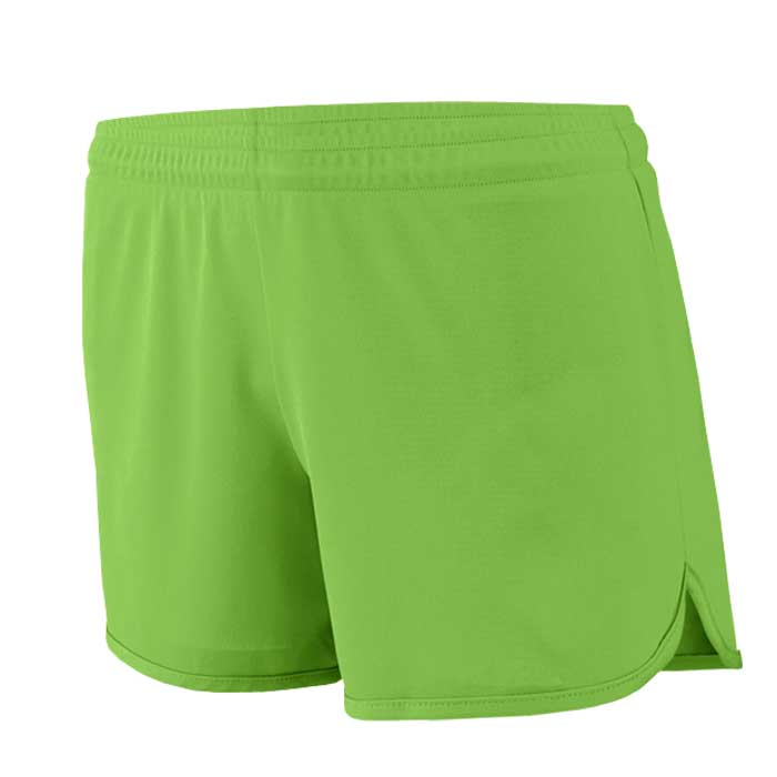 Women's Lime Accelerate Track Uniform Shorts