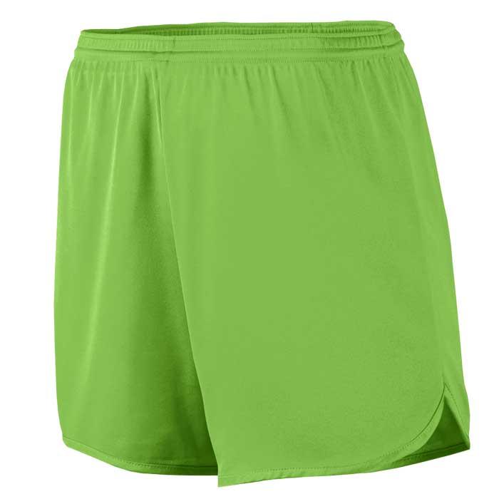 Men's Lime Accelerate Track Uniform Shorts