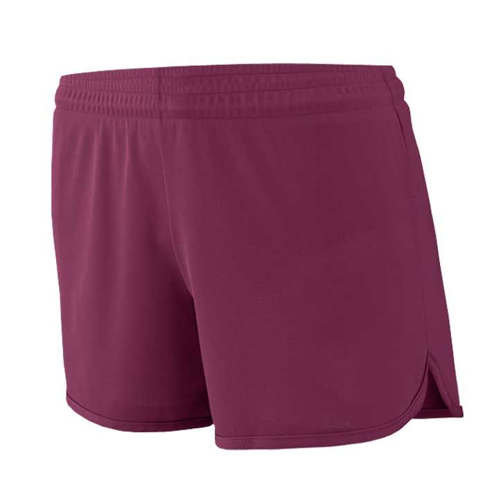 Women's Maroon Accelerate Track Uniform Shorts