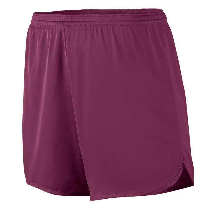 Men's Maroon Accelerate Track Uniform Shorts