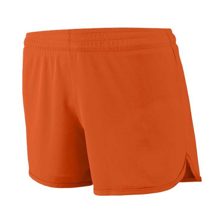 Women's Orange Accelerate Track Uniform Shorts