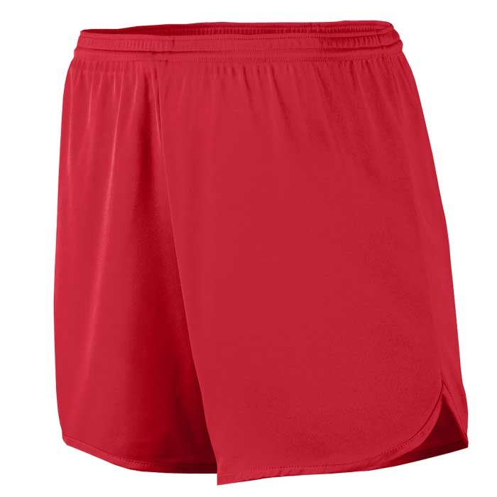 Men's Red Accelerate Track Uniform Shorts