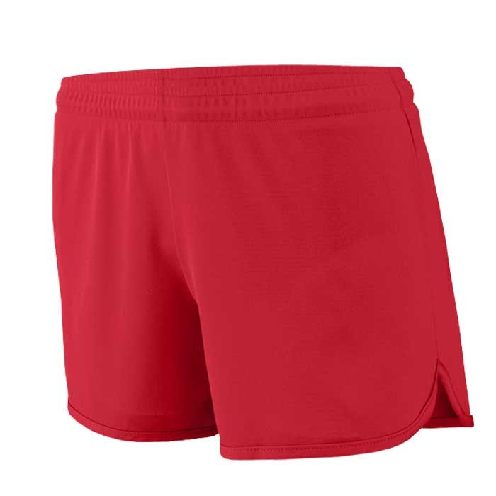Women's Red Accelerate Track Uniform Shorts