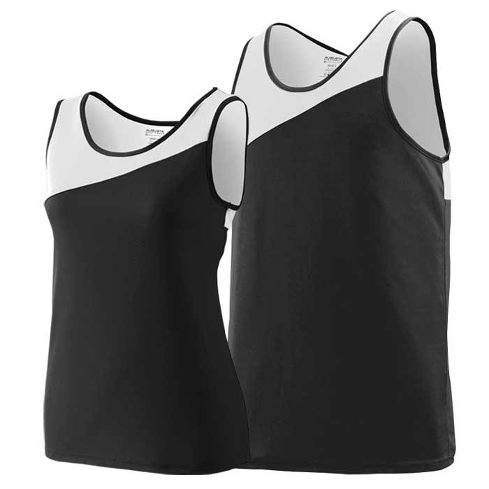 Black and White Accelerate Track Uniform Singlet