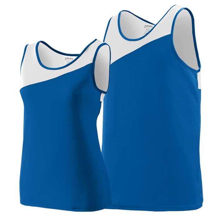 Royal Blue Accelerate Track Uniform Singlet