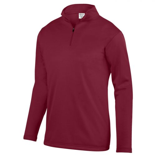 Agility Pullover, Wicking Fleece Pullover Quarter Zip in Cardinal