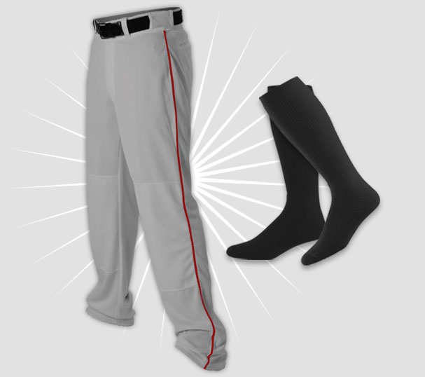 All Stars Baseball Pant, Belt, Sock bundle