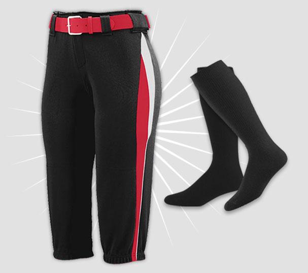 Softball All Star Pant, Sock, Belt Bundle