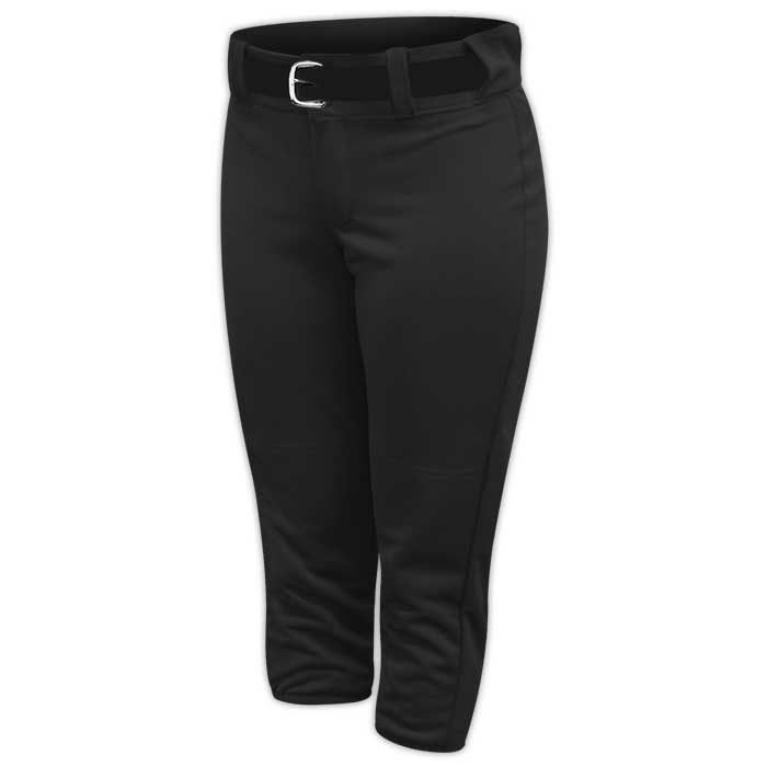 Alleson belted softball pants in Black