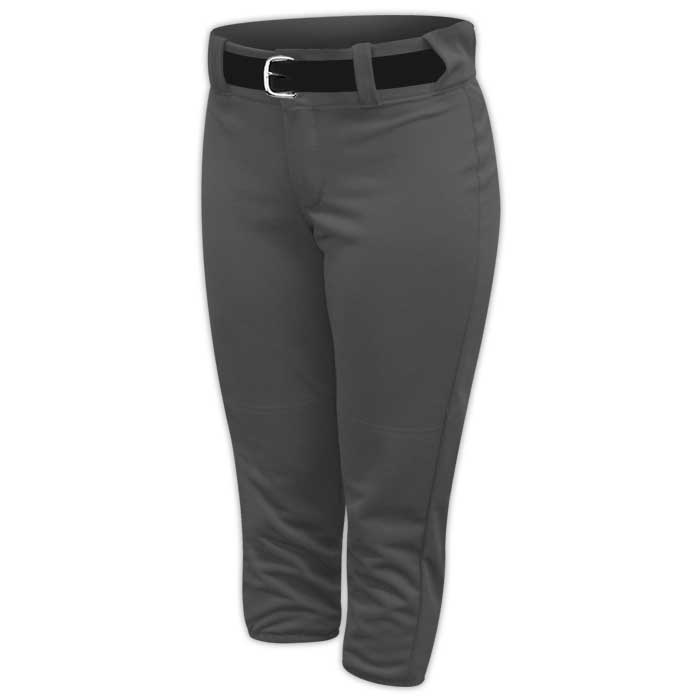 Alleson belted softball pants in Charcoal