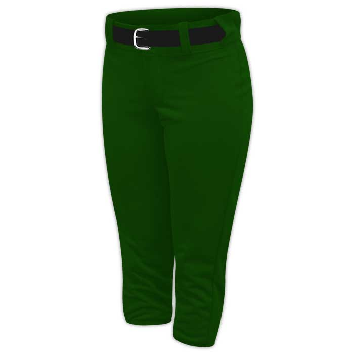 Alleson belted softball pants in Forest