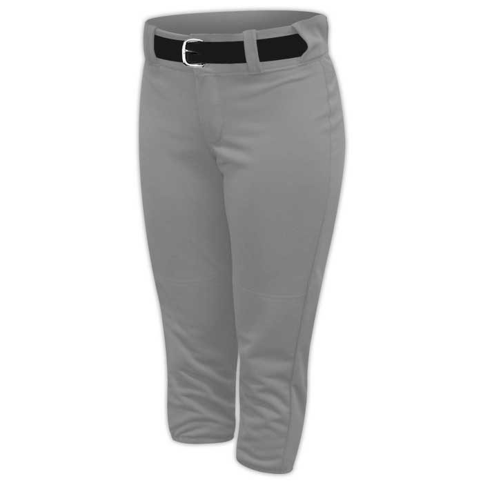 Alleson belted softball pants in Grey