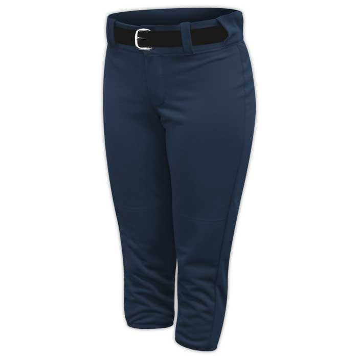 Alleson belted softball pants in Navy