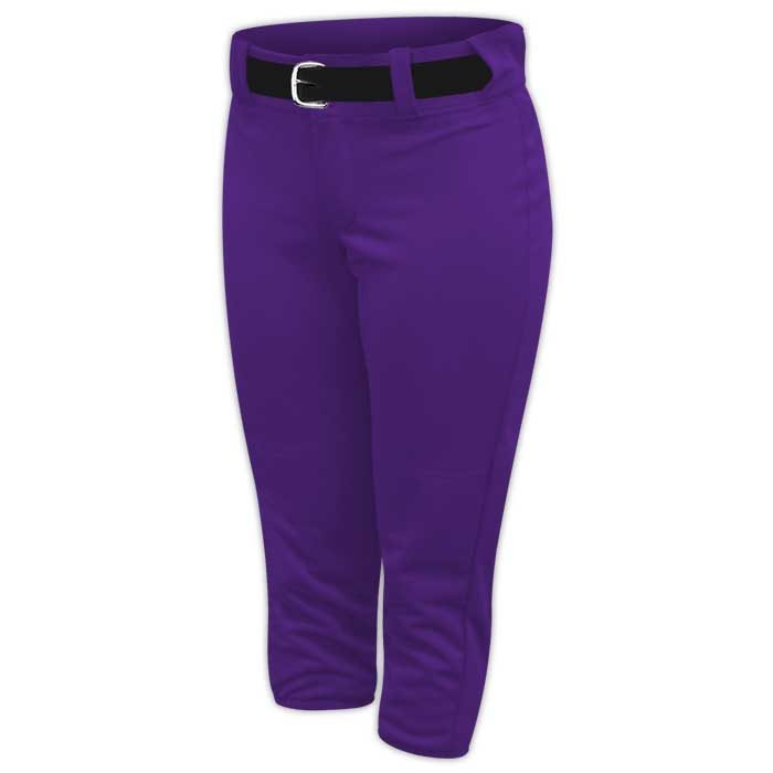 Alleson belted softball pants in Purple