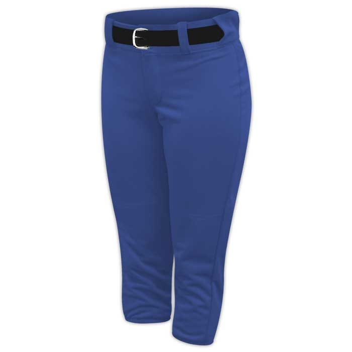 Alleson belted softball pants in Royal