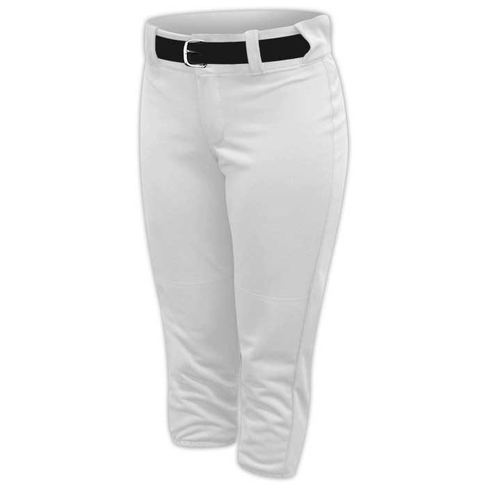 Alleson belted softball pants in White