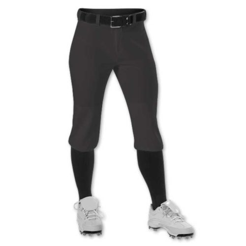 Black Alleson Knicker Softball Pants
