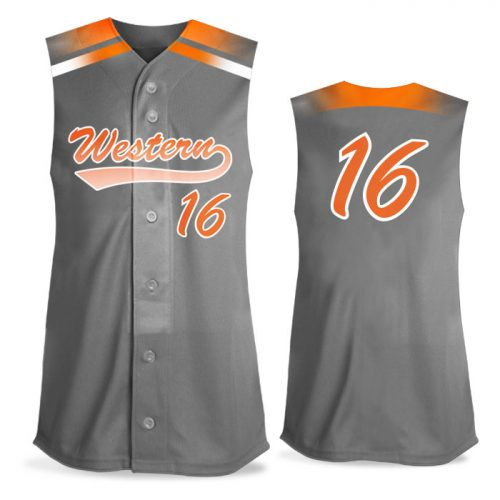 Custom Sublimated Amped Blender FP Jersey SL Full-Button Softball
