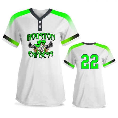Custom Sublimated Amped Blender FP Jersey SS 2-Button Softball
