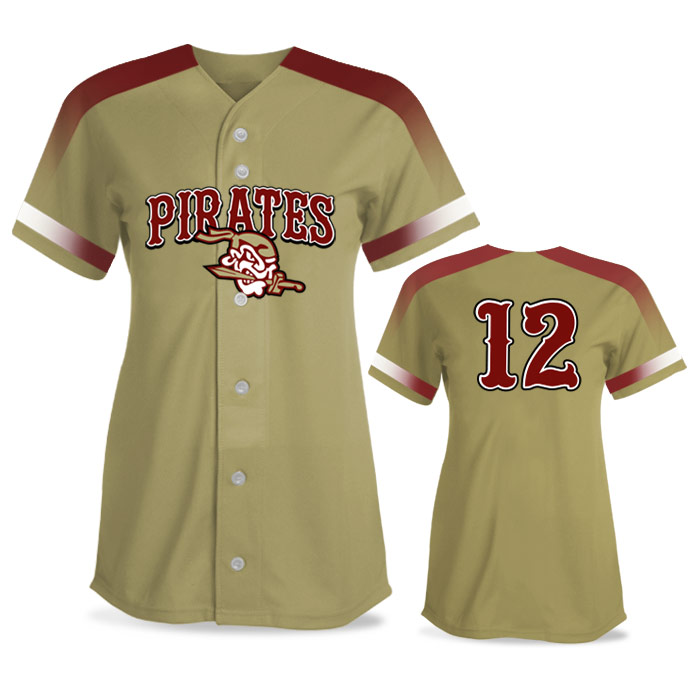 Custom Sublimated Amped Blender FP Jersey SS Full-Button Softball