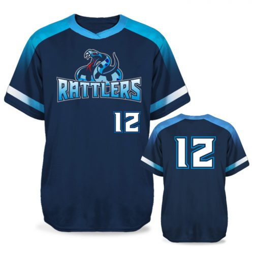 Sublimated Amped Blender Custom Baseball Jersey Short Sleeve Pullover Crew