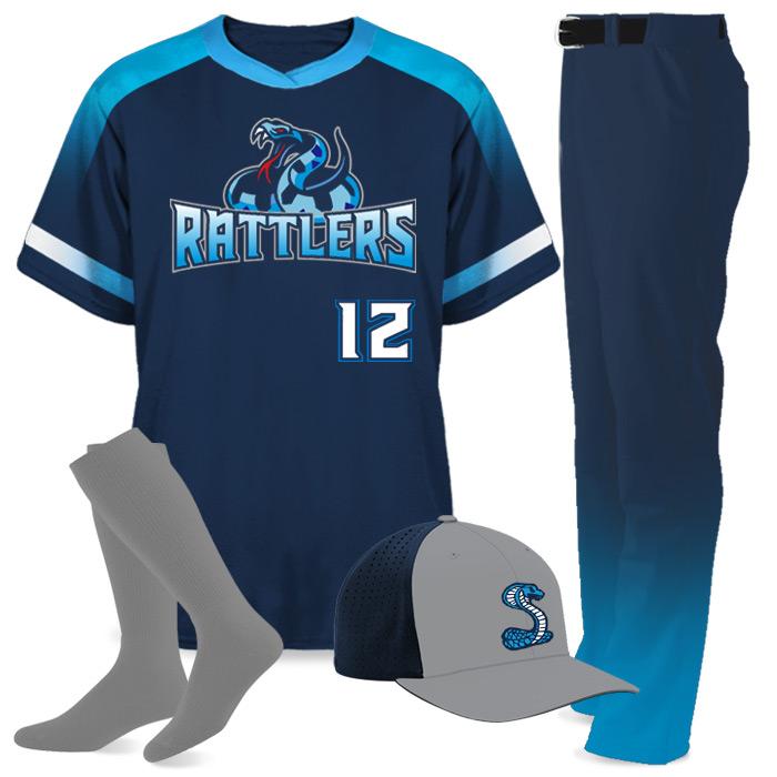 Custom Sublimated Amped Blender Baseball Uniform