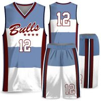 Custom Sublimated Amped Charity Stripe Basketball Uniform
