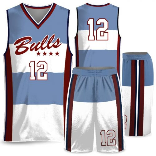 Custom Sublimated Amped Charity Stripe Basketball Uniform