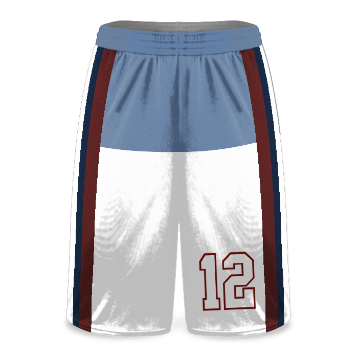 Custom Sublimated Amped Charity Stripe Basketball Uniform Shorts Front