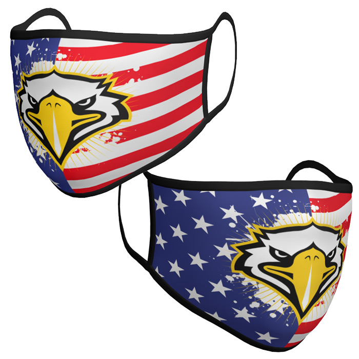Custom Sublimated Amped Team Mask Patriotic