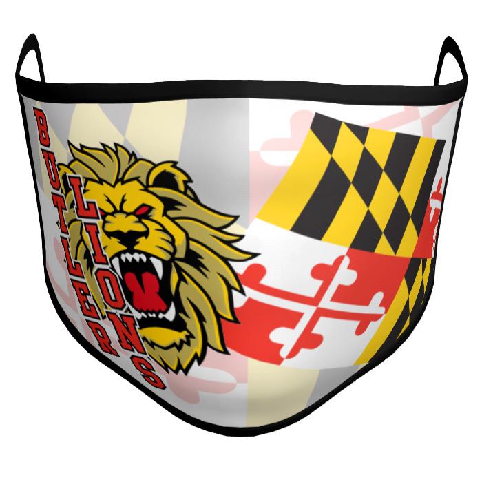 Custom Sublimated Amped Face Mask State Flag