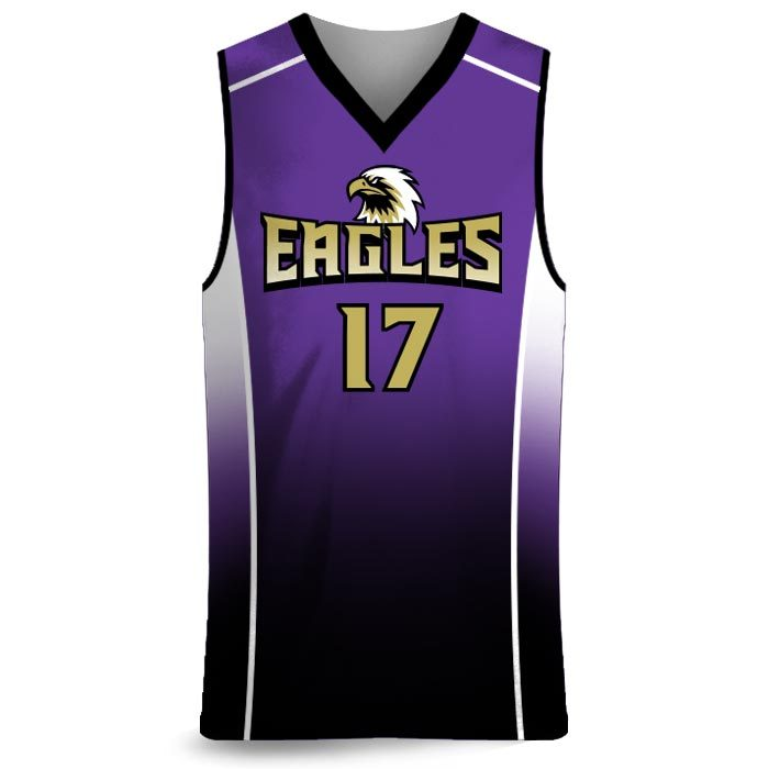 Custom Sublimated Amped Fadeaway J Basketball Uniform Jersey Front