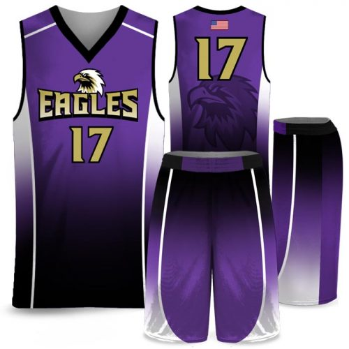 Custom Sublimated Amped Fadeaway J Basketball Uniform