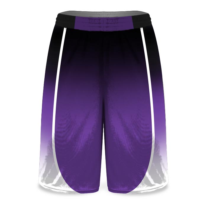 Custom Sublimated Amped Fadeaway J Basketball Uniform Shorts Front