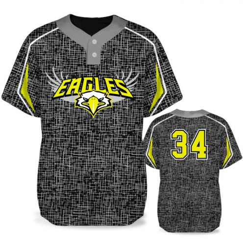 Custom Sublimated Amped Home Turf BB Jersey SS 2-Button